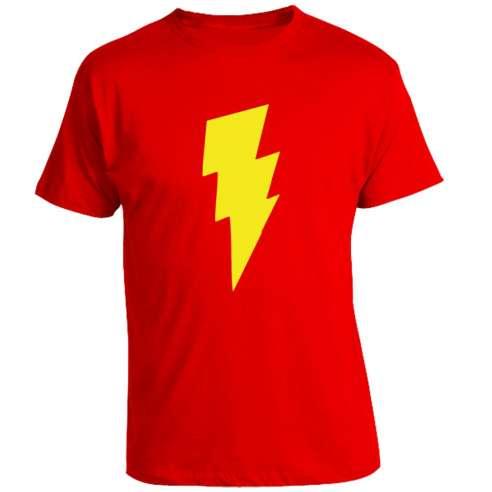 Camiseta Shazam - Rayo