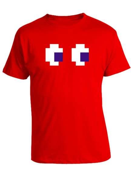 Camiseta Pacman Fantasma Rojo
