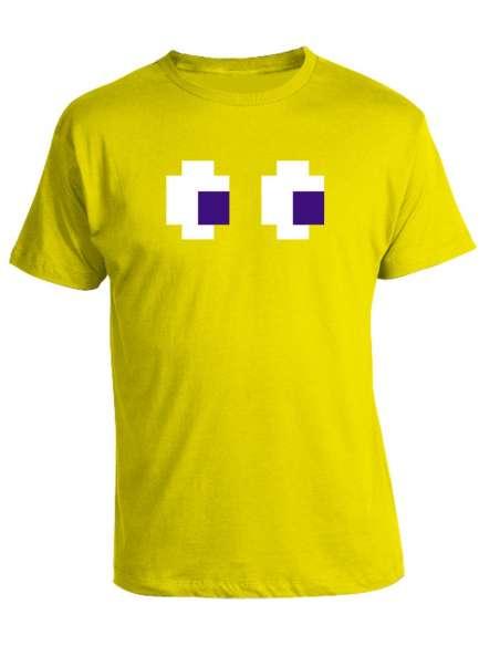 Camiseta Pacman Fantasma Amarillo