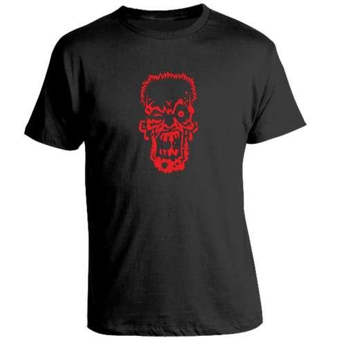 Camiseta Zombie Rojo Face