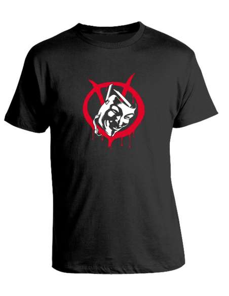 Camiseta V de Vendetta - Mask and Symbol