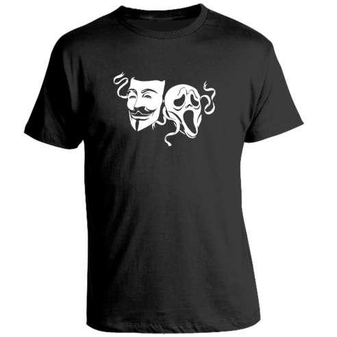 Camiseta V de Vendetta vs Scream