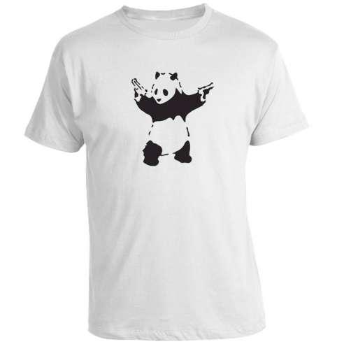 Camiseta Banksy - Panda With Guns