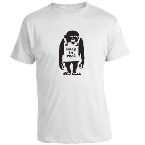 Camiseta Banksy - Keep it real monkey meaning