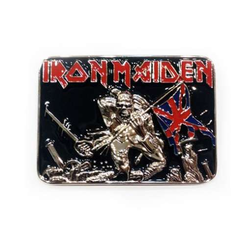 Hebilla Iron Maiden Eddie con Bandera