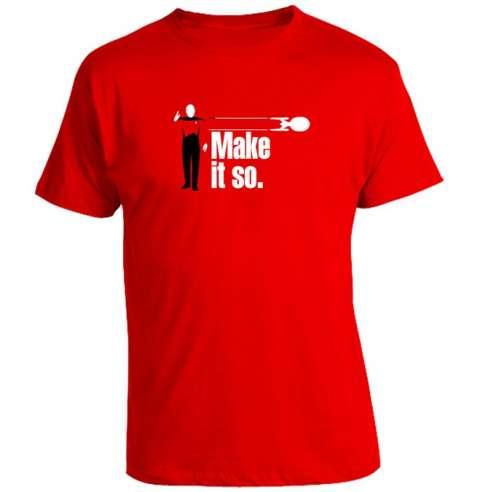 Camiseta Star Trek - Make It So