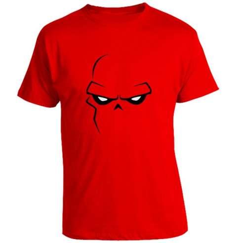 Camiseta Red Skull Minimal Face