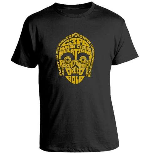 Camiseta C3PO Typo
