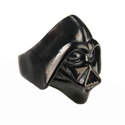 Anillo Darth Vader Acero negro