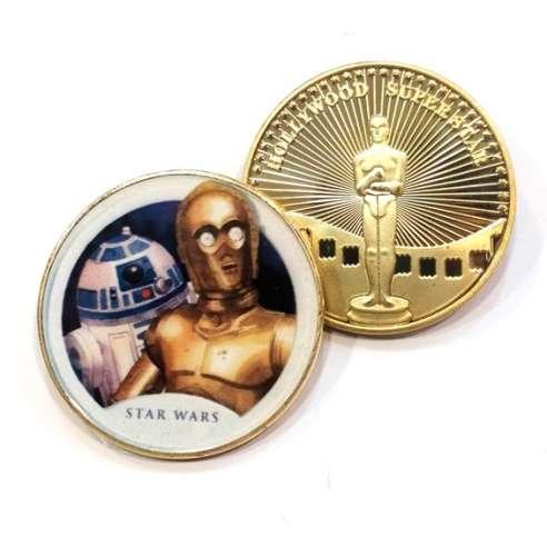 Moneda Conmemorativa Star Wars C3PO y R2D2