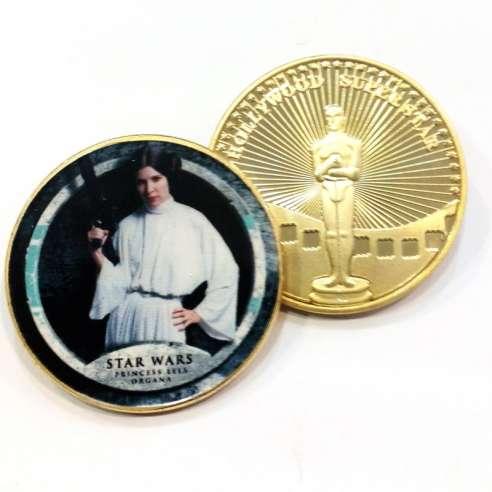 Moneda Star Wars Pincesa Leia Organa