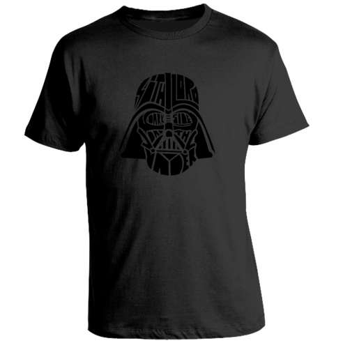 Camiseta Star Wars Darth Vader Black on Black