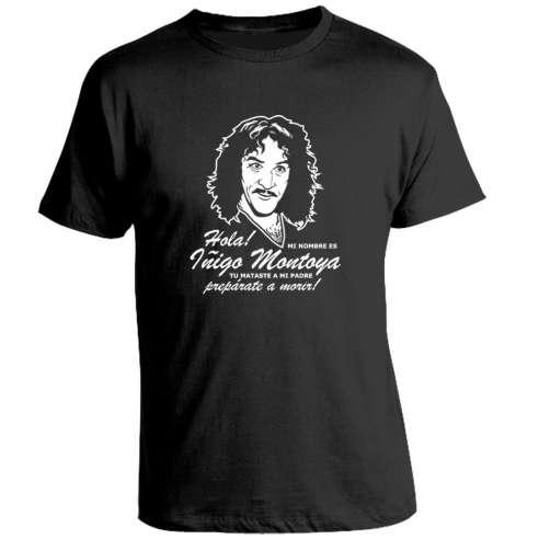 Camiseta Iñigo Montoya - La Princesa Prometida (Negra)