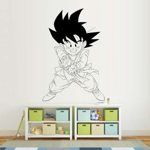 Vinilo Adhesivo Dragon Ball Son Goku KAME HAME HA