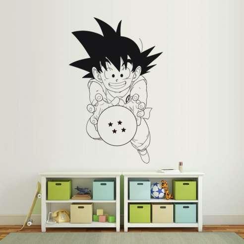 Vinilo Adhesivo Dragon Ball Son Goku Bola