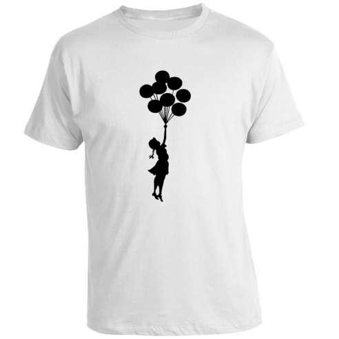 Camiseta Banksy - Globos