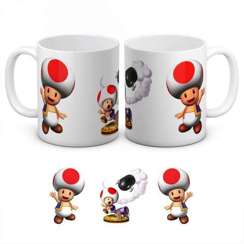 Taza Toad Mario Bros