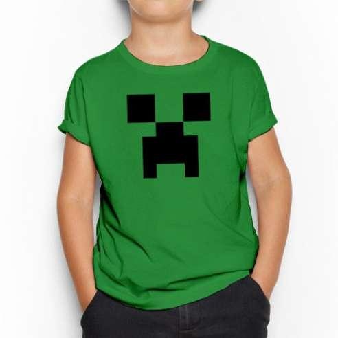 Camiseta Minecraft Creeper infantil
