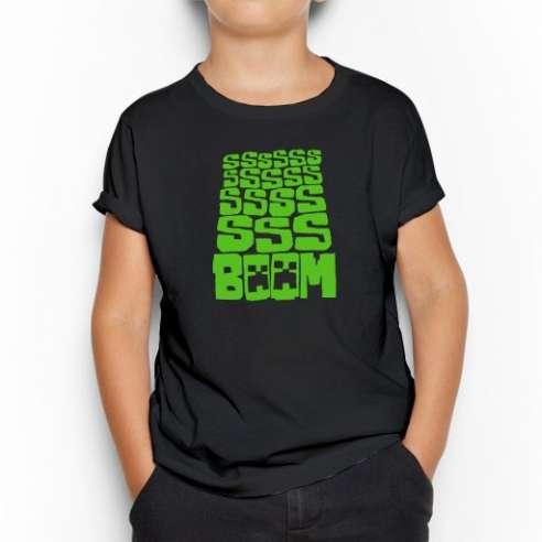Camiseta Minecraft Boom infantil