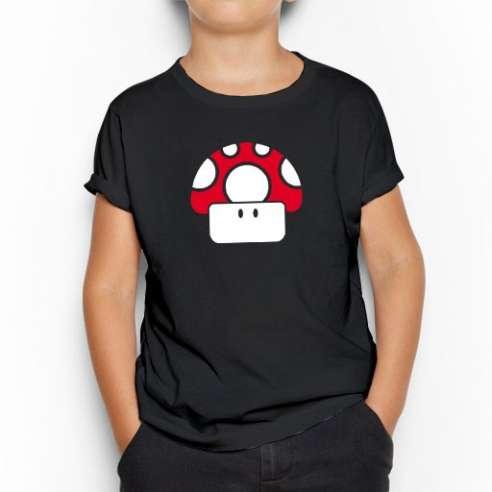 Camiseta Seta Roja Mario Bros infantil