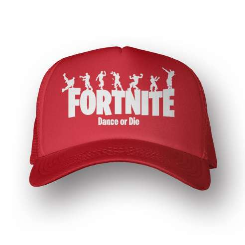 Gorra Fortnite Dance Or Die Red