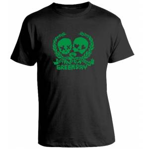 Camiseta Green Day Distressed Skulz