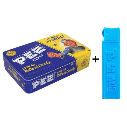 Caja metalica con dispensador Caramelos Pez