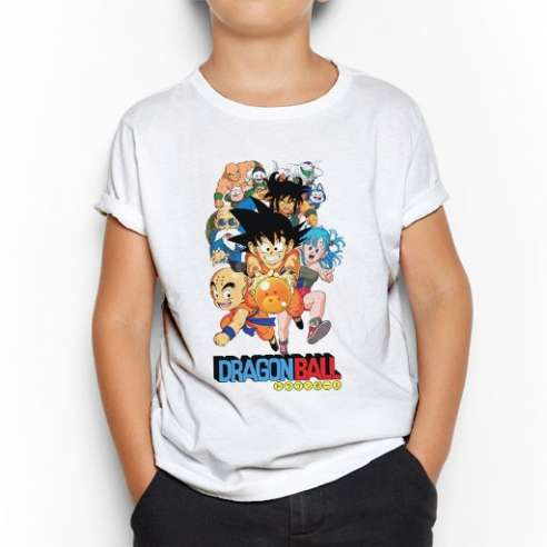 Camiseta Dragon Ball Goku Group Infantil