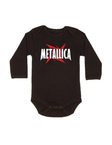 Body Bebe Metallica Manga Larga