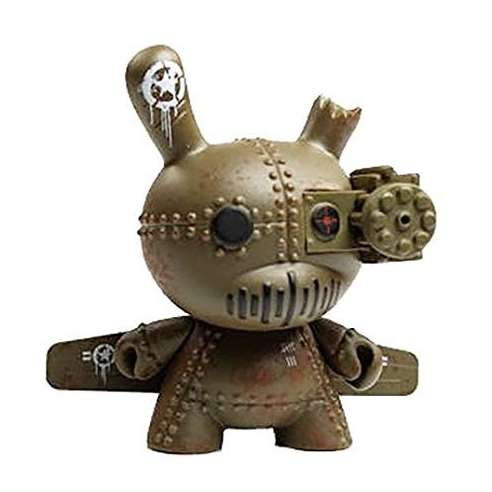 DrilOne Green Tank Destroyer Art of War Dunny Kidrobot