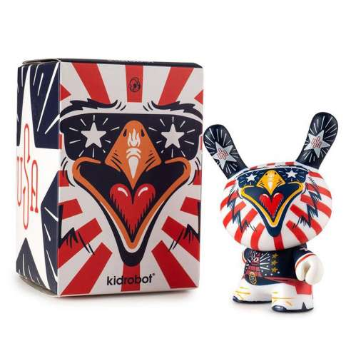 """Indie Eagle 3"""" Dunny by Kronk Kidrobot"""
