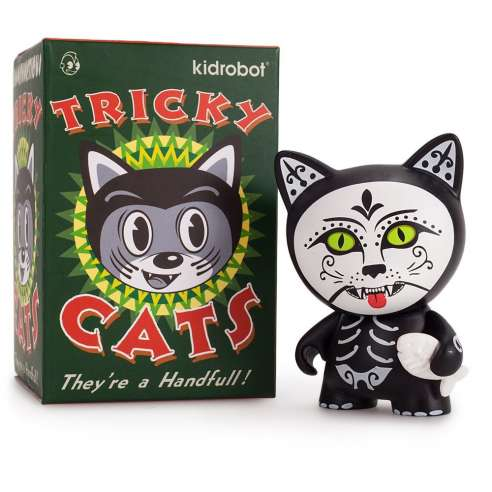 De Los Muertos Tricky Cats by Kidrobot
