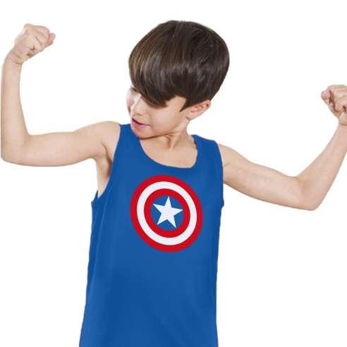 Camiseta de Tirantes Capitán América Infantil