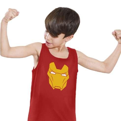 Camiseta de Tirantes Iron Man Mask Infantil