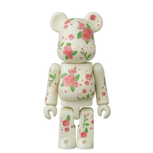 Bearbrick 100% Pattern Pink Roses Series 32