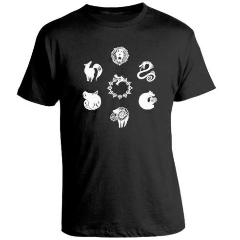 Camiseta The Seven Deadly Sins Symbols