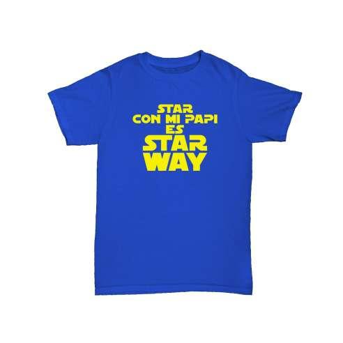 Camiseta Star Con Mi Papi Es Star Way Bebe
