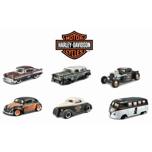 Harley Davison Series Custom Cars Set de 6