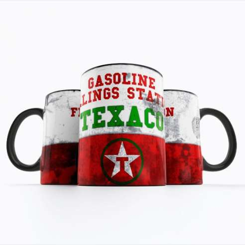 Taza Texaco Oil