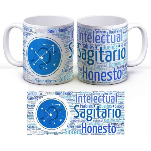Taza Zodiaco Horóscopo Sagitario