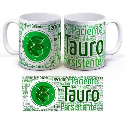 Taza Zodiaco Horóscopo Tauro