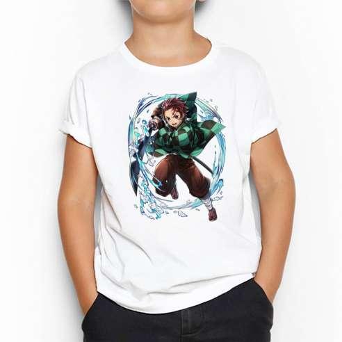 Camiseta Tanjiro Kamado Demon Slayer Kimetsu No Yaiba Infantil